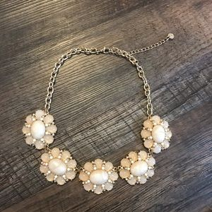 Ivory + Gold Statement Necklace